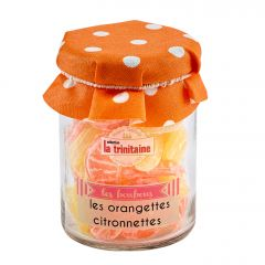 Bonbons à l'orange et au citron en petit pot