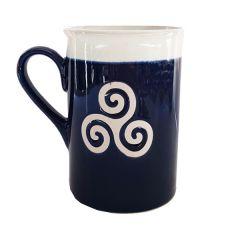 "Mug collection ""Triskell bleu & blanc"""