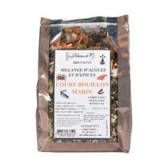 Court bouillon marin aux plantes aromatiques et algues
