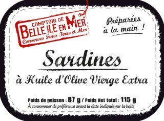 Sardines à l'huile d'olive vierge extra